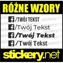 Facebook Twój Tekst 20cm
