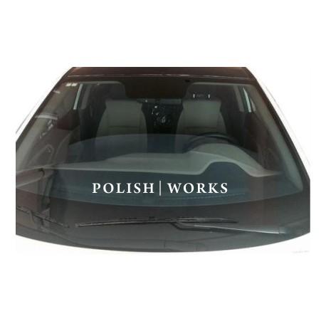 Naklejka na szybę 45cm Polish   Works
