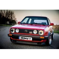 VW Golf II GTI paski na zderzak czerwone